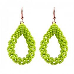 Drop Earrings Large 'Chartreuse'