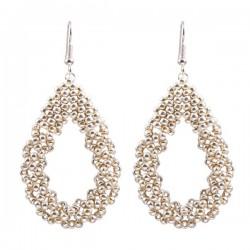 Drop Earrings Large 'Silver'