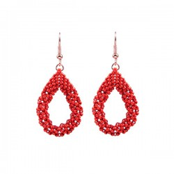 Drop Earrings Small 'Red'