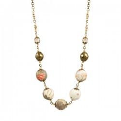 Boho Chique Necklace Taupe