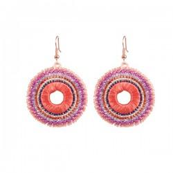 Oorhangers Boho 'Pink Coral'