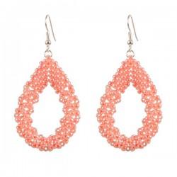 Drop Earrings Large 'Light Peach'