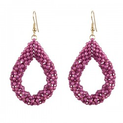 Drop Earrings Large 'Orchid'