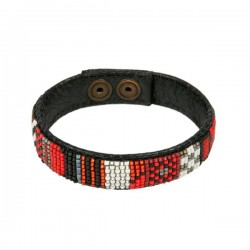 Bracelet Leather 'Red'
