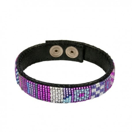 Armband Leder 'Purple'