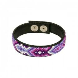 Bracelet Leather 'Purple'