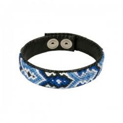 Armband Leder 'Blue'