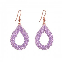 Drop Earrings Small 'Orchid'