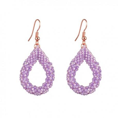 Oorhangers Druppel Klein 'Lilac Opal'